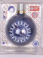 Vintage Sports Collector Glass Ball Christmas Ornament NFL Tenn Titans Football
