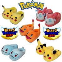 Pantofole ciabatte in plush Pokemon Pikachu Charmander Squirtle per bambini