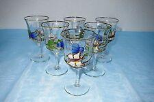 Ongle verre-sherry -/südweinglas-tiffany Design-papillon, fleur
