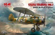 Gloster Gladiator Mk.I, WWII British Fighter (Plastic model kit) 1/32 ICM 32040
