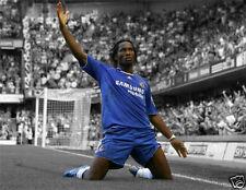 """Didier Drogba todo color cartel 24"""" X 18"""" Chelsea"""