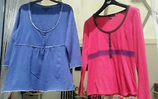 2 X Boden Tops Size 14 - 1 x Blue, 1 x Pink, Stretchy tops. Good condition