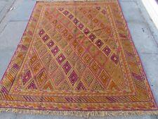 Vintage Hand Made Afghan Tribal Mushvani Oriental Green Wool Rug 183x148cm