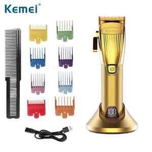 Kemei Hair KM-K32s gold body metal adjustable carbon steel blade professional