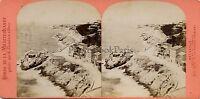 Marsiglia La Corniche Francia Foto Stereo Neurdein Vintage Albumina