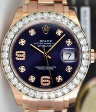 ROLEX - 18kt Rose Gold MASTERPIECE Pearlmaster Purple Diamond 86285 - SANT BLANC