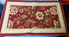 """TEXTILE KITCHEN RUG, (non skid back) (16"""" x 26"""") FLOWERS by Otto"""