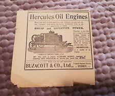 Hercules Oil Engines - 1903 Advertisement