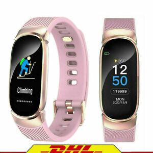 Smartwatch Smart Uhr Armband Sport Pulsuhr Blutdruck Fitness Tracker für Damen