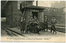 Strike Of Chemins Iron October 1910. Strike Of Railway. Conflict Social.soldats