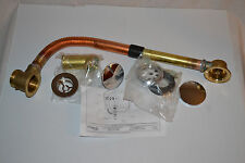 NEW Telescopic Bath Waste Overflow Drain, Copper Flexible, Rubinet 9EBEWO12CH