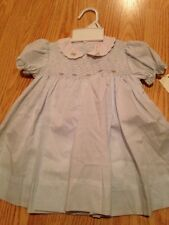 Petit Ami Blue Baby Girl Dress Smocked Diaper Cover New 3m
