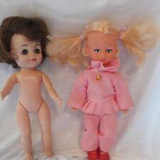 "New listing Vintage Girl Doll 8"" Made in Hong Kong Blue Eyes Blonde Hair & effannee doll 65"