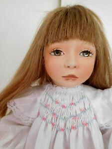 "1994 Maggie Iacono 16"" Cloth Felt Girl Multi-Jointed"