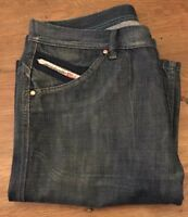 Diesel Industry Dark Wash Button Fly Straight Leg Jeans Mens Size 32x33 ITALY