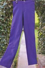 American Apparel purple  Disco pants shiny tight  wetlook sz m uk 12 spandex