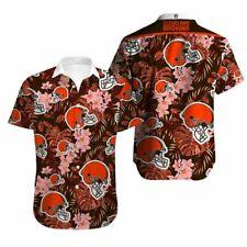 Cleveland Browns Hawaiian Shirts Summer Beach Short Sleeve T Shirt Holiday Tops