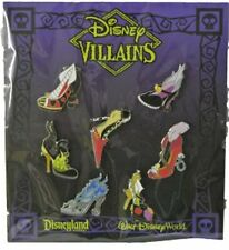 NEW AUTHENTIC DISNEY VILLAINS HIGH HEEL SHOES 7 PIN SET