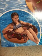 """35"""" Airblown Inflatable Chocolate Donut Pool Float Swimming Tube New Sprinkles"""