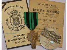 Belgium WW2 Medal Resistance Radio Operators Silver Senator Paybook ID Card 1940