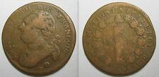 12 DENIERS FRANCOIS - 1792 D - CONSTITUTION- LOUIS XVI