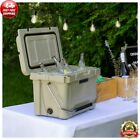 HEAVY DUTY TAN 20 Qt Roto Molded Cooler 10 DAY Ice Beer TRIPLE Insulated Chest