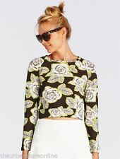 Rayon Long Sleeve Hand-wash Only Floral Tops & Blouses for Women