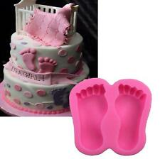Baby Shower Feet Silicone Fondant Mould Cake Decor Sugar Gum Paste Icing Mold #3