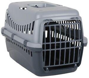 Pet Carrier Dog Carrier Cat Carrier 45cm x 30cm Lightweight Grey Travel Crate