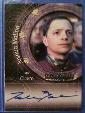Stargate Heroes autograph card A112 Joshua Malina as Cicero