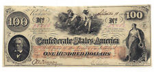 T-41 Pf-11 Cr-319A 1862 Confederate States of America $100 Note No.13550