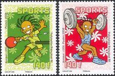 Polinesia FRANCESE 2008 SPORT/Giochi/PING PONG/Sollevamento Pesi Set 2 V (n45845)