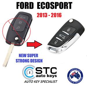 SUITS FORD ECOSPORT 2013 2014 2015 2016  COMPLETE REMOTE FLIP TRANSPONDER KEY