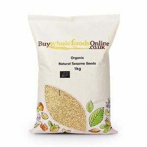 Organic Natural Sesame Seeds 1kg   Free UK Mainland P&P