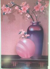 FINE ART LITHOGRAPH: Cherry Blossoms Graphic Art By Greg Couch 24 X 36