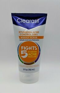 Clearasil Stubborn Acne Control 5 in 1 Face Scrub Salicylic Acid Medication