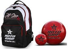 14lb Roto Grip Clear Polyester Bowling Ball & Matching Roto Grip Back Pack Bag