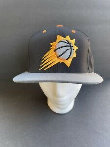 Phoenix Suns NBA Mitchell & Ness Snapback Hat Cap black orange Gray