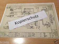 """Opel Mod. """"Olympia"""" ab Bj. 1938 Vorkrieg, Elektrischer Schaltplan"""