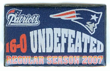 New England Patriots Undefeated Pin