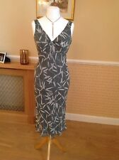 Planet Green And Cream Silk Dress Size 12