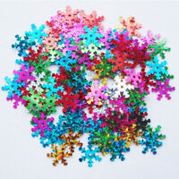 400Pcs DIY Craft Snowflake Sequin Christmas Festival Party Colourful Decoration