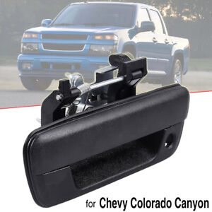 Tailgate Handle Textured w/ Lock For 2004-12 Chevrolet Colorado GMC Canyon Black