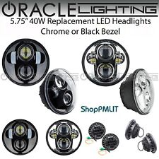 "ORACLE 5.75"" Sealed Beam 40W Replacement LED Headlights - Chrome or Black Bezel"