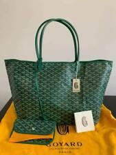 AUTHENTIC Goyard St. Louis Tote Green GM  bag