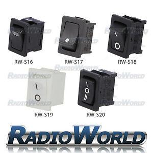 12V Rectangle Rocker Switch Car Dash Light SPST SPDT ON OFF LED Black Red Rally