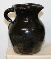 ANTIQUE SMALL SOUTHERN POTTERY PITCHER 7 1/2'' HALF GALLON