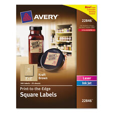 """Avery Square Labels, 2 X 2, Kraft Brown, 300/pack"""