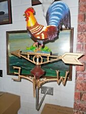 Cast Iron Cockerel Weather Vane Wall Mount