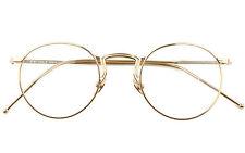 Agstum 49mm Vintage Round Optical Metal Glasses Frame Clear Lens Hot sale